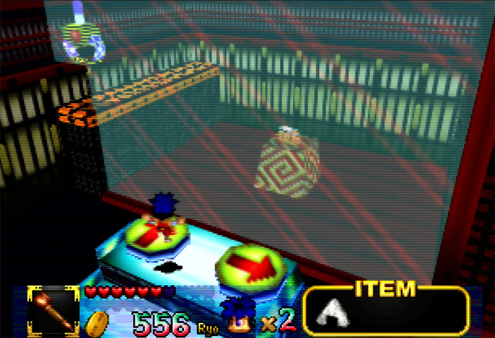 Ghost Toys Castle crane mini-game in Mystical Ninja Starring Goemon for N64