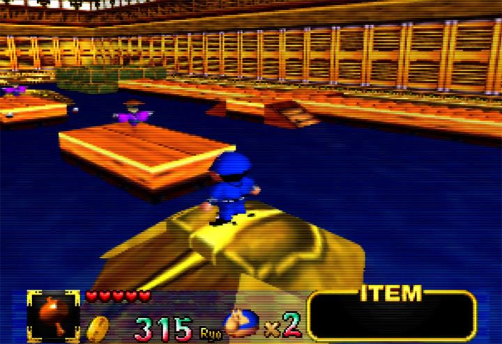 Transformed Oedo Castle in Mystical Ninja Starring Goemon (Nintendo 64)