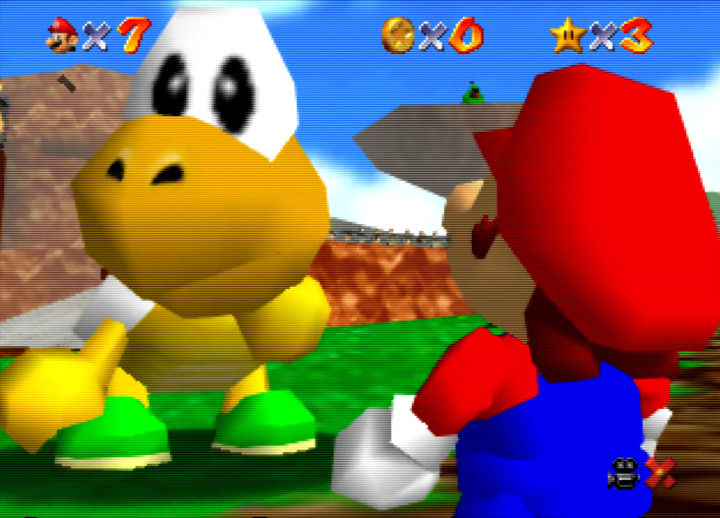 Koopa the Quick from Super Mario 64's Bob-omb Battlefield