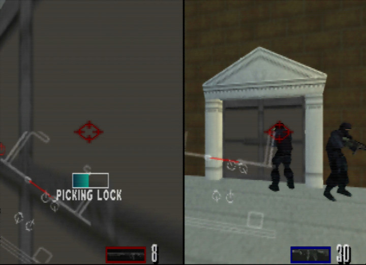 Two-player coop mode in Tom Clancy's Rainbow Six on N64