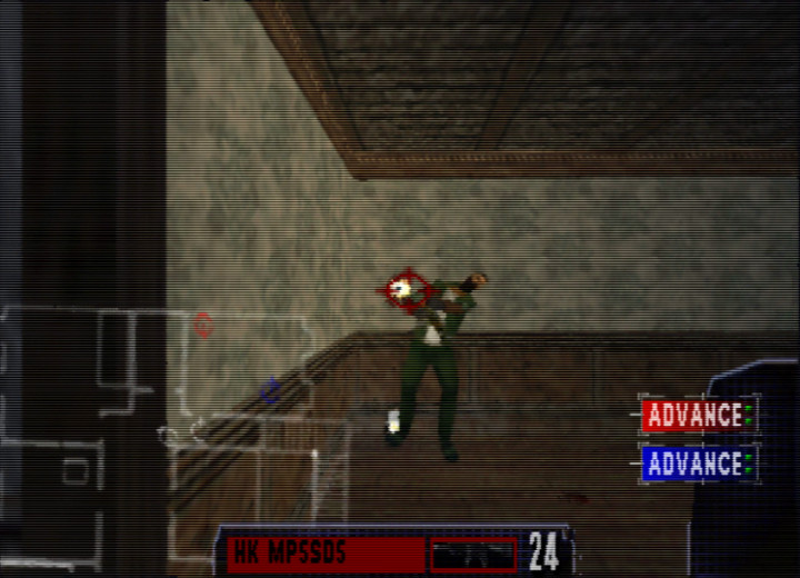 Gunning down a terrorist in Tom Clancy's Rainbow Six for N64