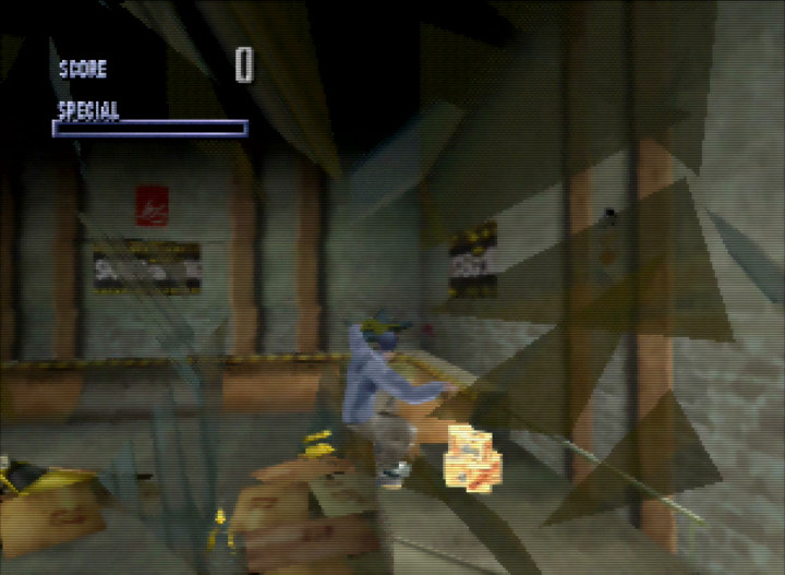 Smashing through a window in Tony Hawk's Pro Skater for N64