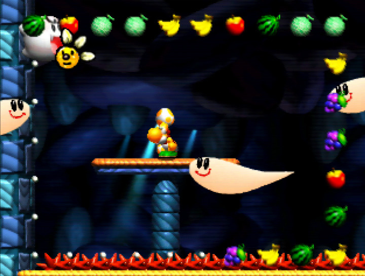 Ghost Castle stage from Yoshi's Story for N64
