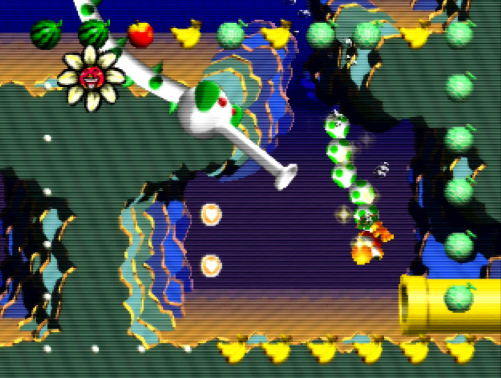 Lots O' Jellyfish underwater stage in Yoshi's Story (N64)