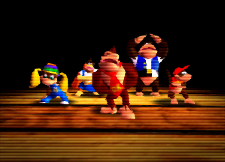 Donkey Kong 64, one of the best-selling N64 games in the United States