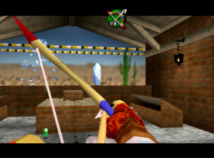 Archery mini-game in The Legend of Zelda: Ocarina of Time