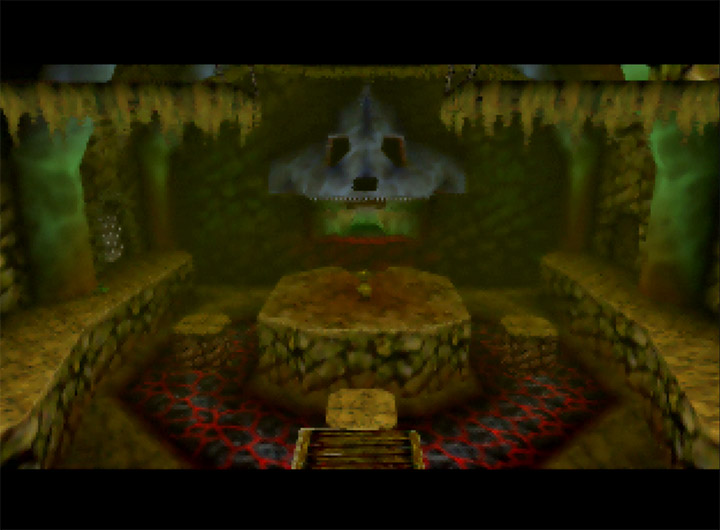 Dodongo's Cavern from The Legend of Zelda: Ocarina of Time for N64.