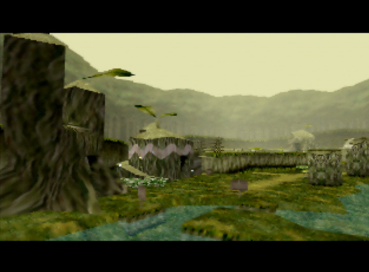 Kokiri Forest in The Legend of Zelda: Ocarina of Time for N64.