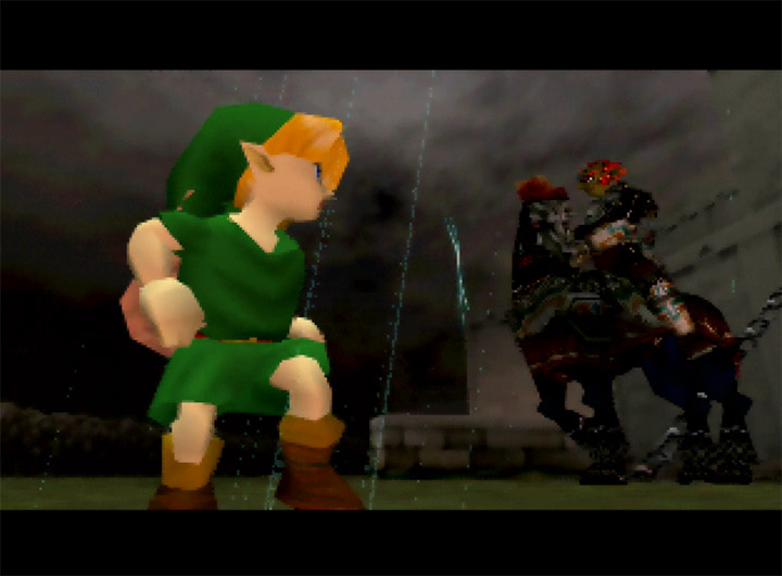 Link meets Ganondorf for the first time in classic N64 game The Legend of Zelda: Ocarina of Time