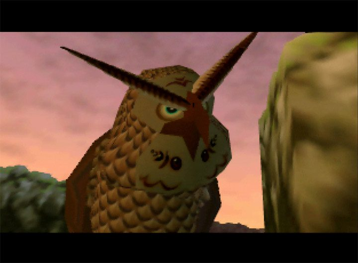 Kaepora Gaebora the owl from The Legend of Zelda: Ocarina of Time for N64.