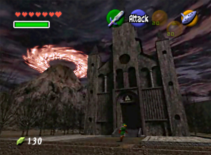 The Temple of Time, as seen when Link travels to the future in Ocarina of Time