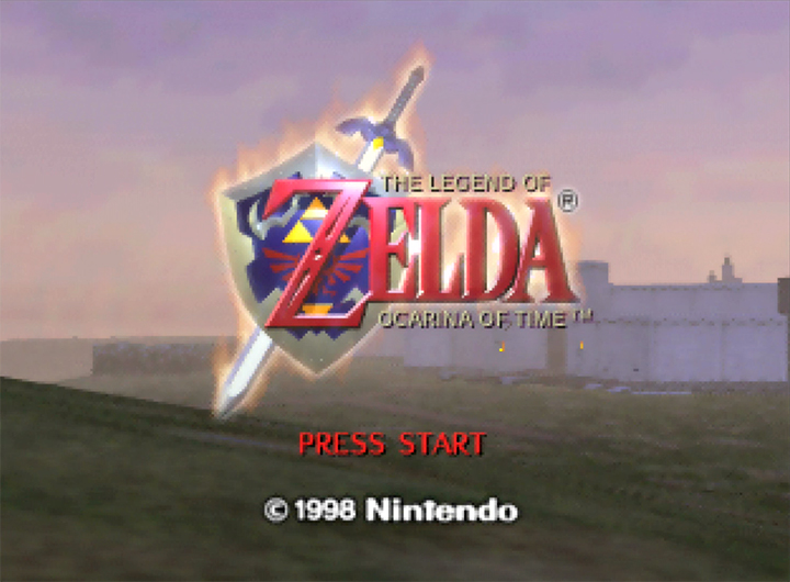 The Legend of Zelda: Ocarina of Time title screen (N64 version)