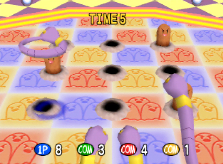 Ekans' Hoop Hurl mini-game from Pokémon Stadium for N64.