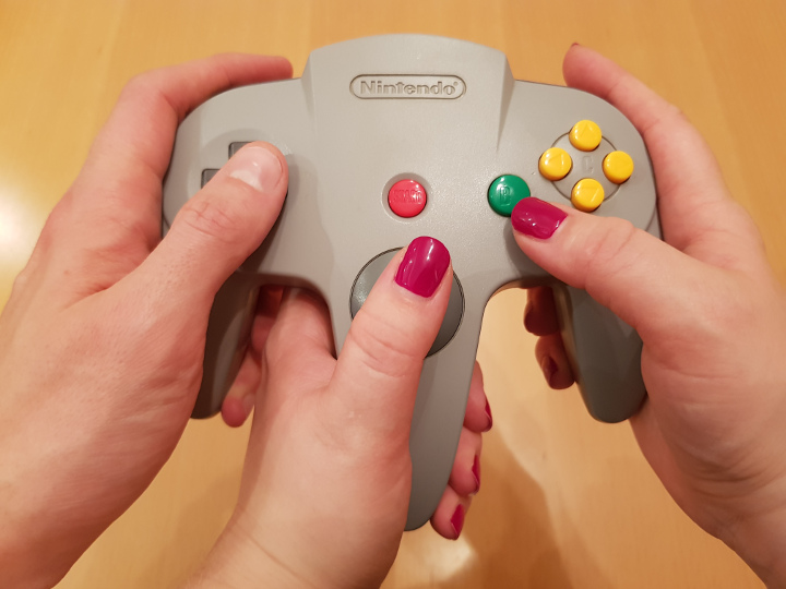 Need three hands to hold an N64 controller