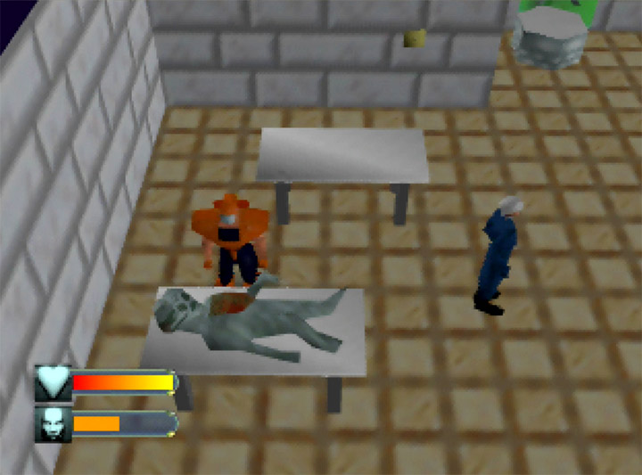 Alien autopsy in Body Harvest for the N64.