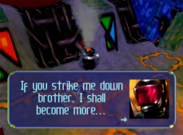 Obi-Wan Kenobi quote in Body Harvest for N64.