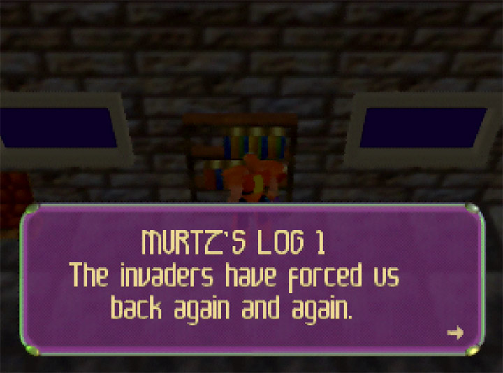 Colonel Murtz's log in Body Harvest for Nintendo 64