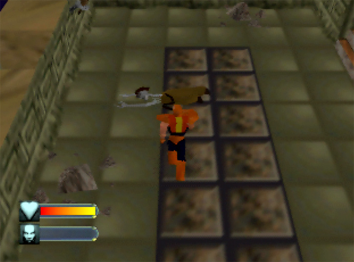 A skeleton that looks like Indiana Jones in Body Harvest for N64.