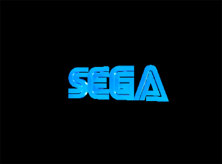 The Sega logo, as it appears in N64 ROM hack GoldenEye with Sonic characters