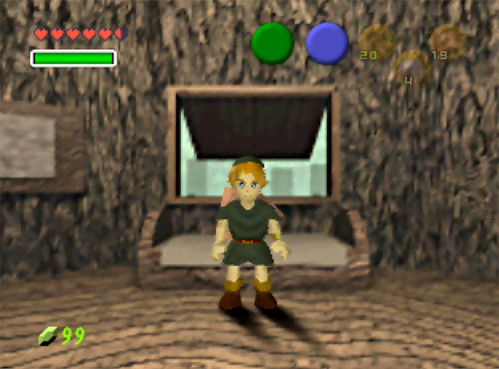 Dark tunic you can wear in Ocarina of Time Randomizer for N64