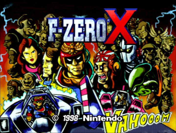 F-Zero X N64 title screen