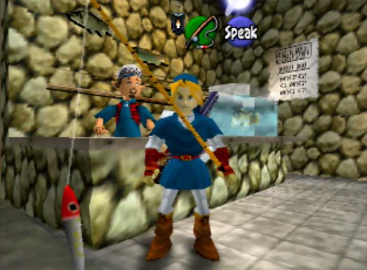 The Fishing Pond in The Legend of Zelda: Ocarina of Time for N64.