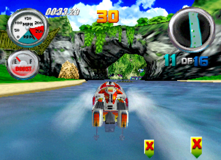 Lost Island course from Hydro Thunder for the N64.