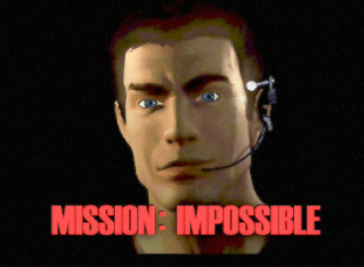 The title screen for N64 game Mission Impossible