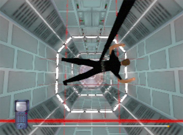 Descending into the computer vault in Mission Impossible for the N64.