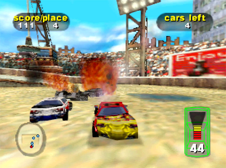 Destruction Derby 64's junkyard demolition mode