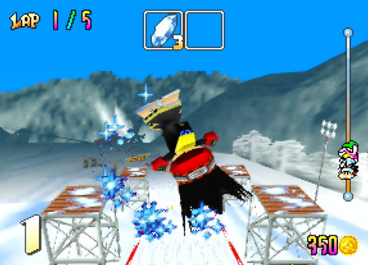 Slash performs a special trick in Snowboard Kids, one of the most underrated N64 games.