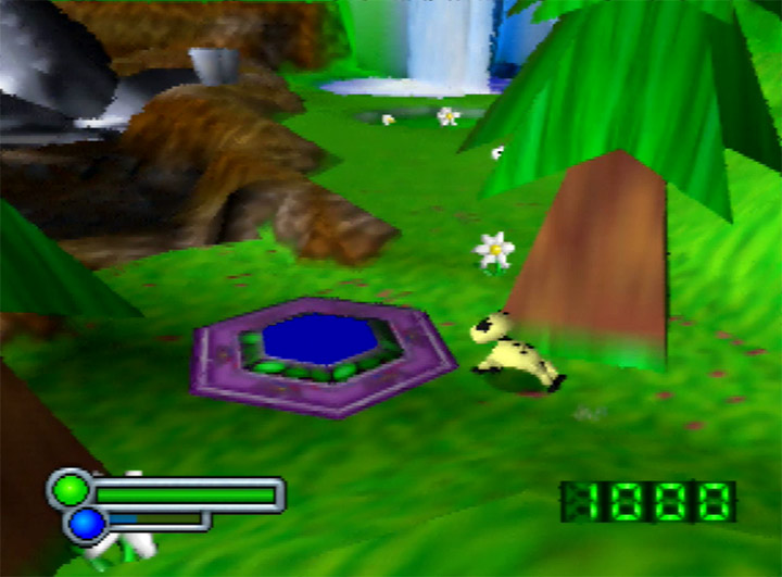 Playing as a robotic dog in Space Station Silicon Valley for the Nintendo 64.