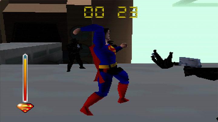 Punching enemies in Superman 64