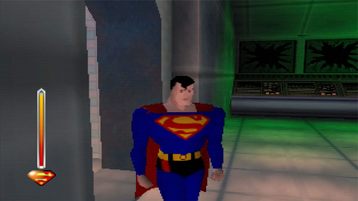 The Man of Steel, as seen in Superman 64 for the N64.