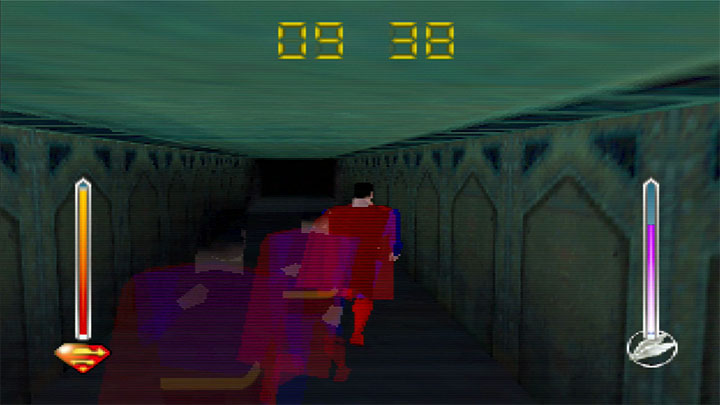Using super speed in Superman 64 for the N64