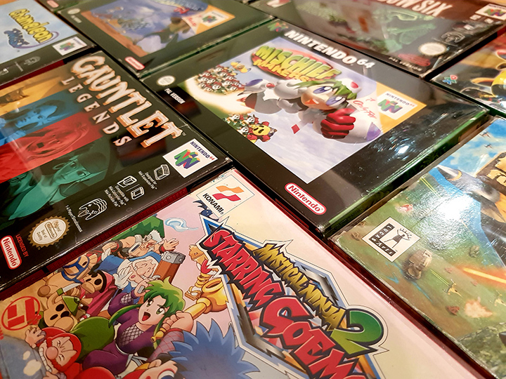 A selection of underrated N64 games in their boxes.