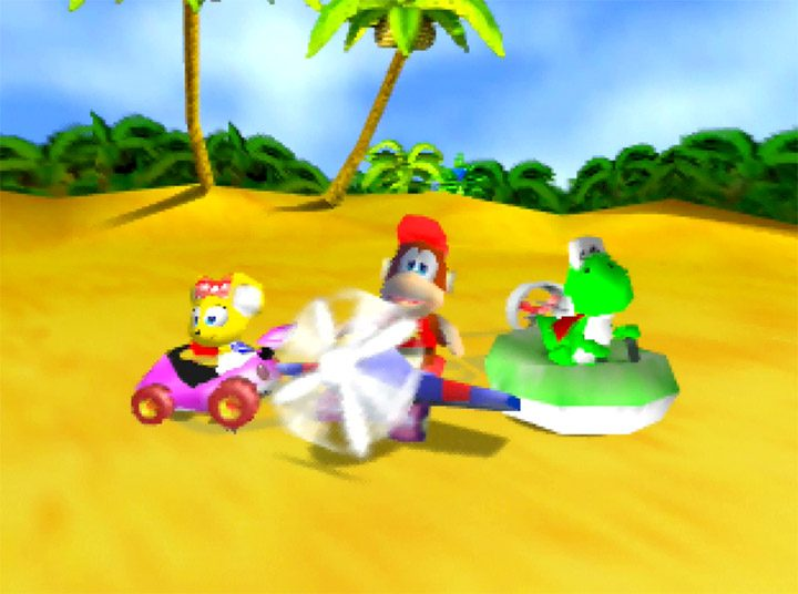 Yoshi added to the Diddy Kong Racing line-up in Yoshi's Racing Story mod for N64.