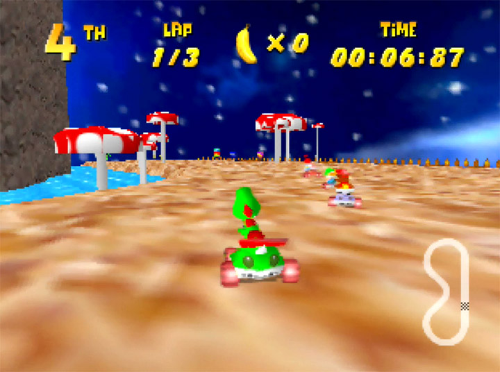 Tall Tall Yoshi - a custom track in Yoshi's Racing Story based on Tall, Tall Mountain from Super Mario 64.
