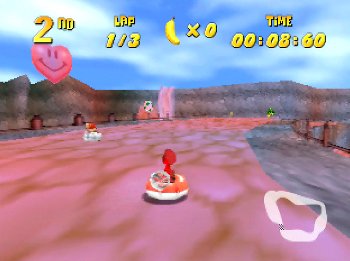 Yoshi's Canyon track in Diddy Kong Racing mod, Yoshi's Racing Story