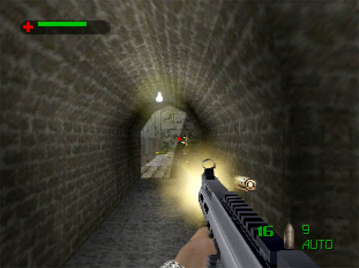Engaging in combat with enemy divers in The World Is Not Enough for N64