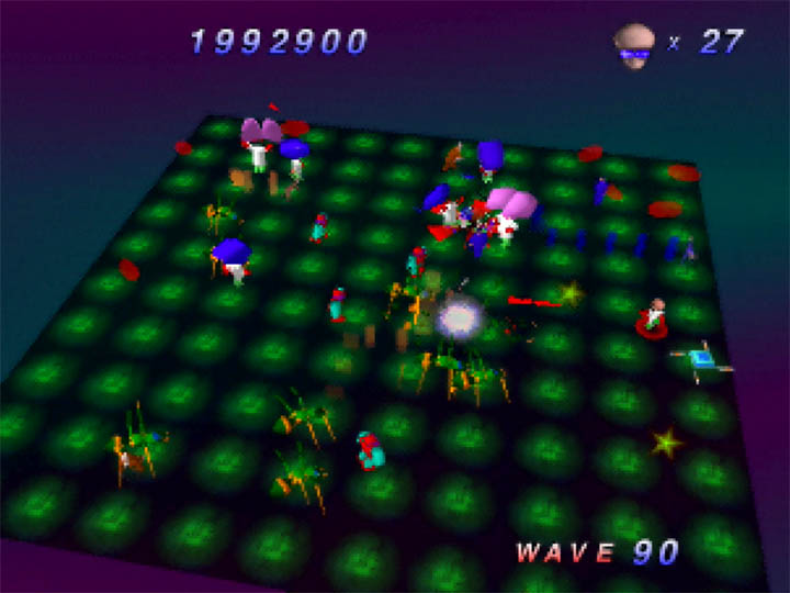 Bugs appearing for the first time in Robotron 64's 90th stage