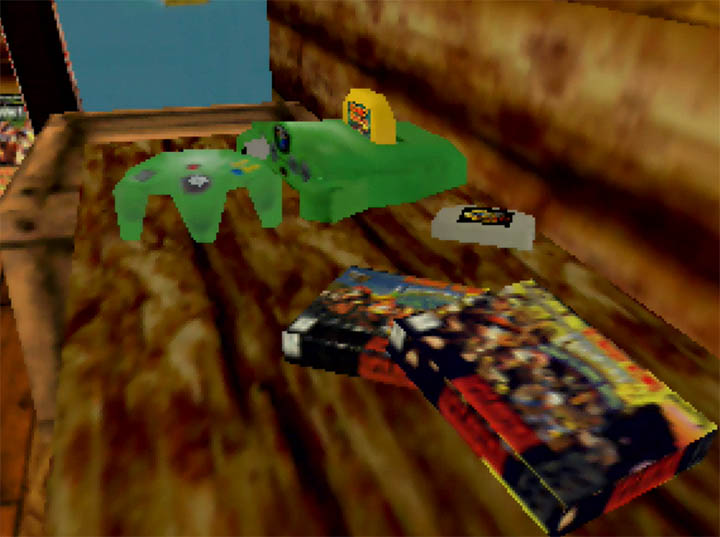 An N64 console in Banjo-Kazooie x Donkey Kong Country - a Nintendo 64 mod