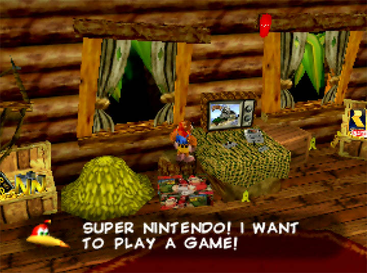 DK's house in Banjo-Kazooie x Donkey Kong Country for N64