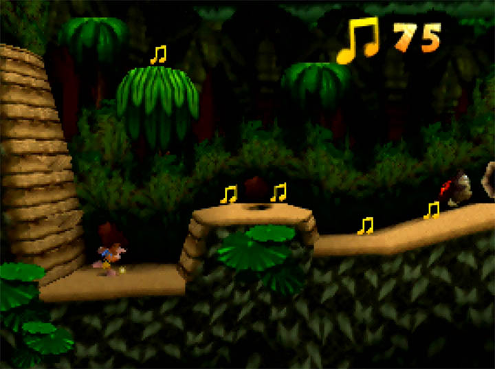 Banjo-Kazooie x Donkey Kong Country's Jungle Hijinx recreation - an N64 mod by Kurko Mods