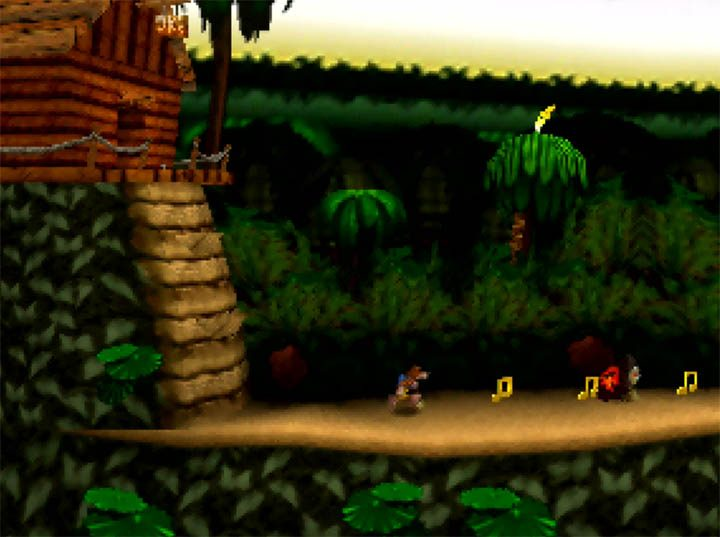 Donkey Kong Country's Jungle Hijinx stage recreated for the N64 in Banjo-Kazooie x Donkey Kong Country