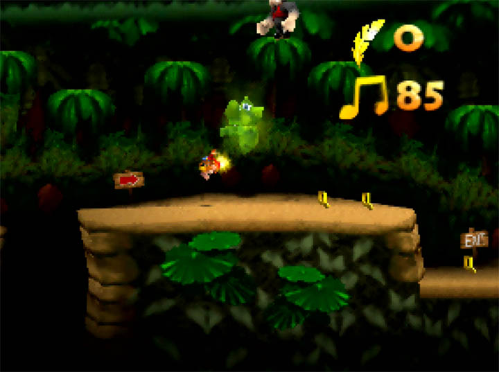 Using gold feathers on a Tee-Hee in Banjo-Kazooie x Donkey Kong Country for N64