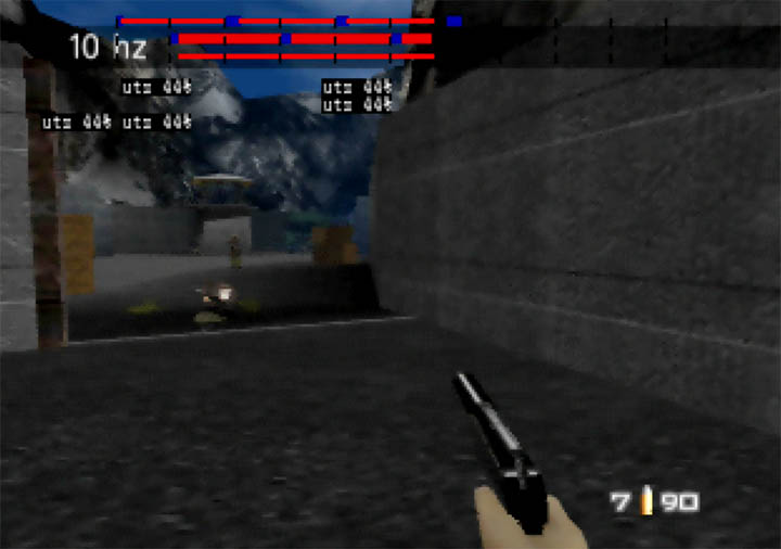 Dam mission in GoldenEye 007.