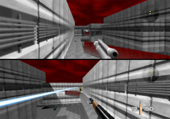 Bond and Trevelyan face off in GoldenEye 007 Tournament Edition - an N64 mod that improves GoldenEye's performance.