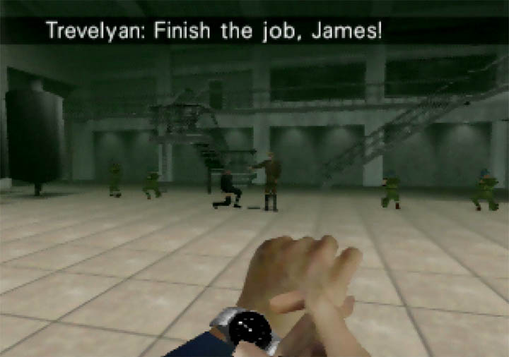 The Facility Cylinder Room as it appears in GoldenEye 007 Tournament Edition