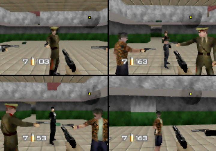 GoldenEye 007 Tournament Edition - multiplayer match on Stack map.